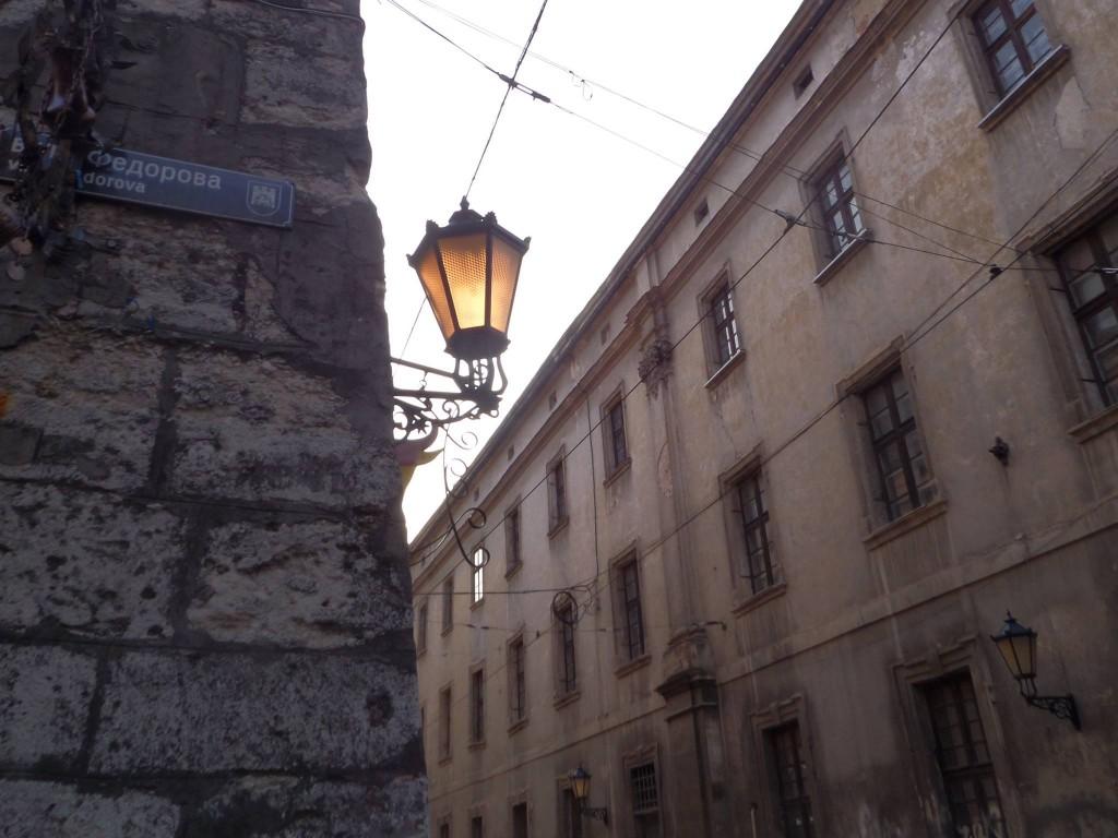 Gatulampa i gamlastaden