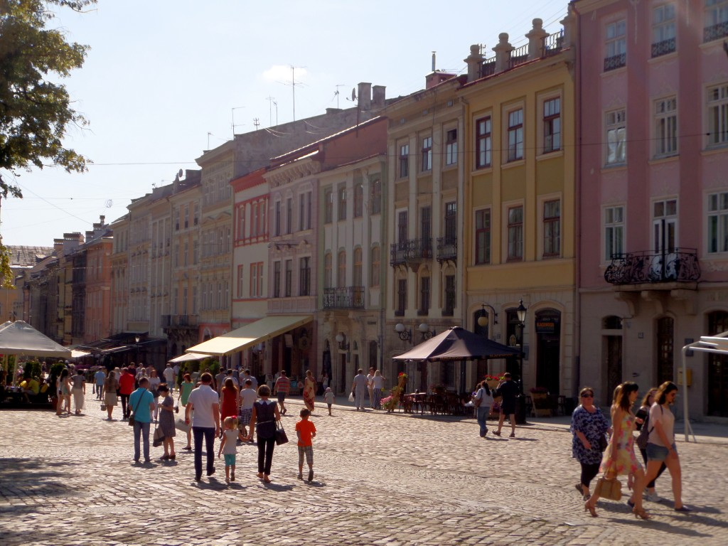 Rådhustorget i Lviv