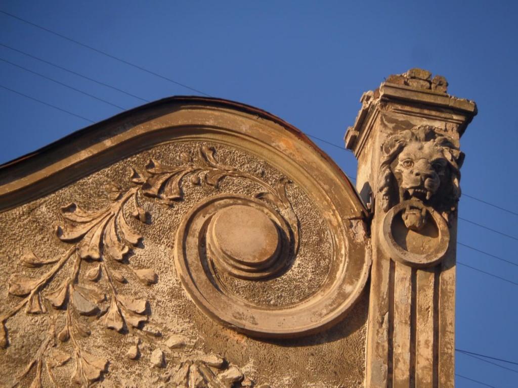 Detalj med lejonhuvud Bohdana Khmel'nyts'koho